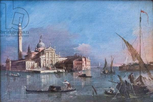 View of San Giorgio maggiore, Francesco Guardi, 18th century (oil on canvas)