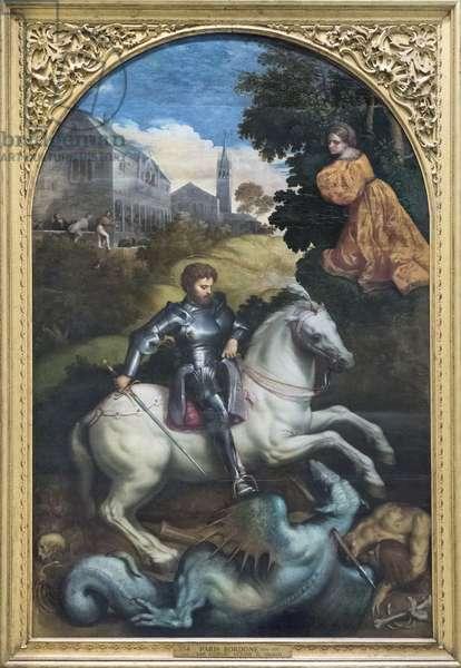 Saint George Killing the Dragon (oil on canvas)