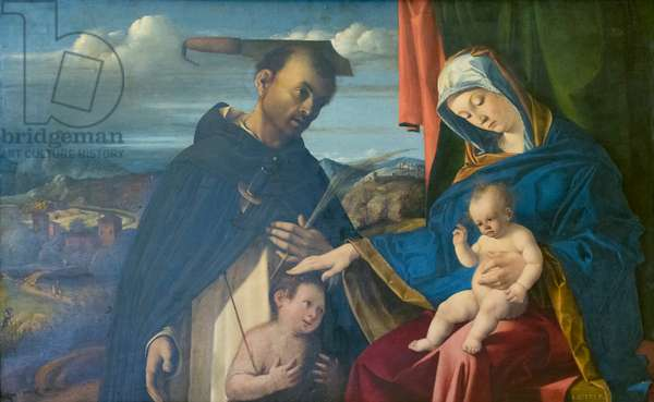 Madonna and Child with St Peter martyr, 1503, Lorenzo Lotto (oil on panel)