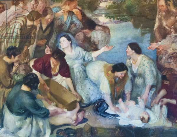Moses saved by the waters, 1912 (oil on canvas)