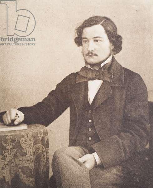 William Morris aged 23, 1857/8 (b/w photo)