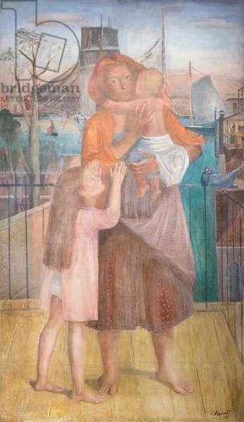 Venetian mother, 1937, (tempera on canvas)
