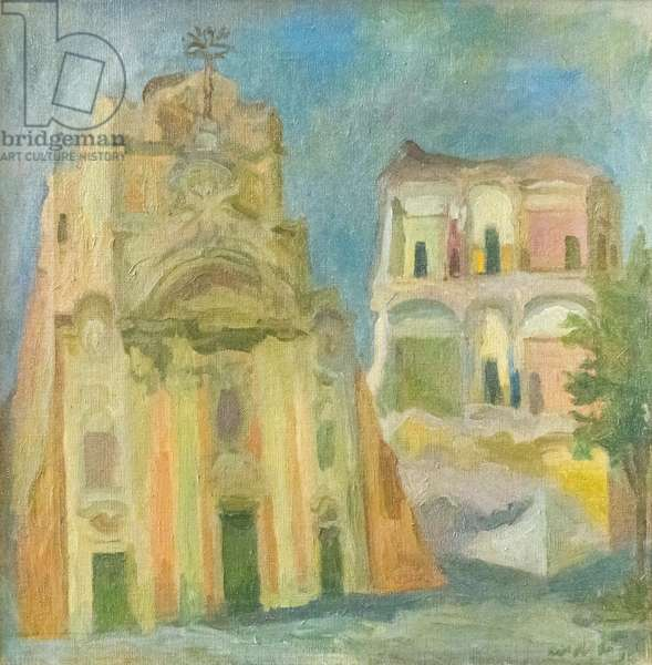 Church of the Annunziatina in Rome, 1938 (oil on board)