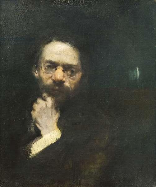 Portrait of Giovanni Cena, 1909 (oil on canvas)