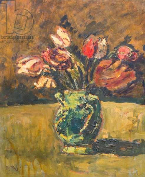 Natura morta con vaso d itulipani, 1922, Arturo Tosi (painting)