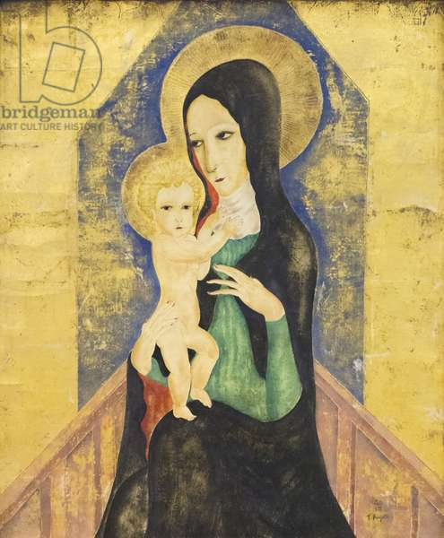 Madonna and Child, 1920 (oil & gold on canvas)