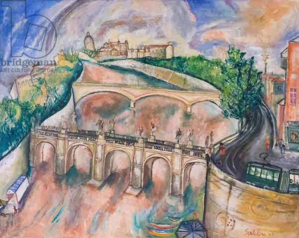 Ponte Sant'Angelo, 1949 (oil on canvas)