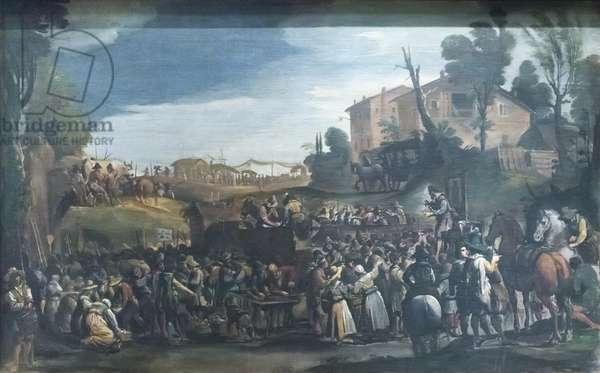 Village Fair, c.1620 (oil on panel)