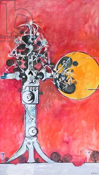 Thorn cross, aka tree of life, 1971 (oil on canvas)