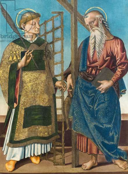 Saint Lawrence and Andrew, first quarter 16th century (oil on panel)