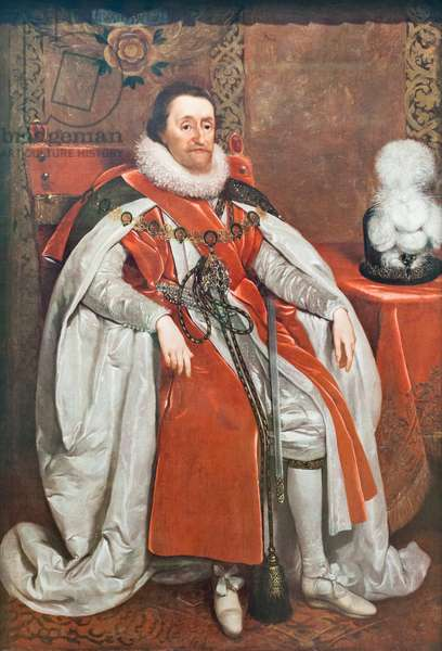 King James I of England and VI of Scotland, 1621 (oil on canvas)