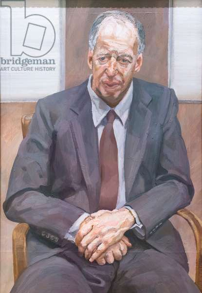 Jacob Rothschild, 4th baron Rothschild (man in a chair), 1989, (oil on canvas)