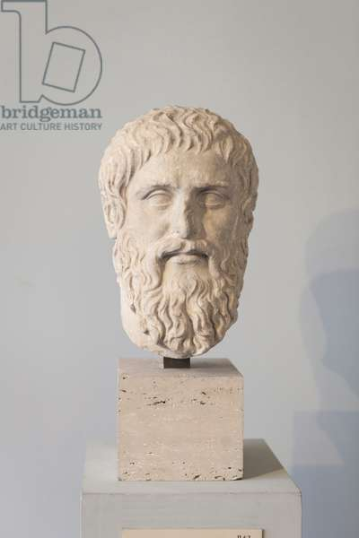 Portrait of Plato, copy after the statue by Silanion (marble)