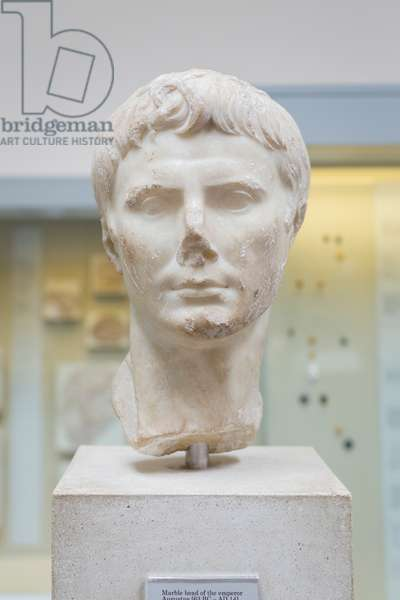 Head of the emperor Augustus, about 14 AD