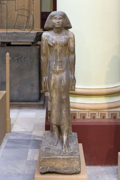 Painted limestone standing statue of Meresankh, 4th or 5th dynasty, from Serdab, Egyptian Museum, Cairo, Egypt