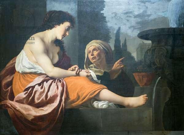 Bathsheba at her bath, 17th century (oil on canvas)