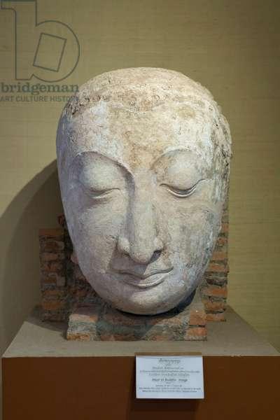 Head of Buddha, Sukhothai style, 13th century AD (stucco)