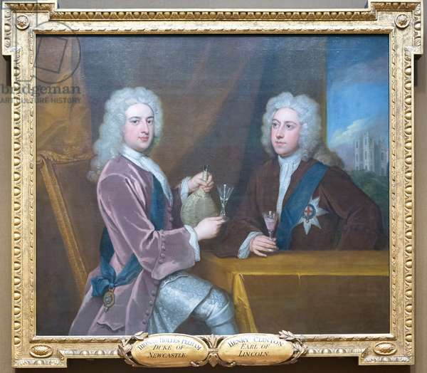 Portraits of members of the Kit Cat club, 18th century (oil on canvas)