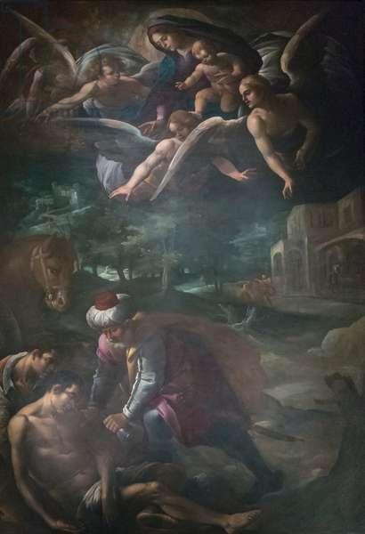 Good Samaritan, (oil on canvas)