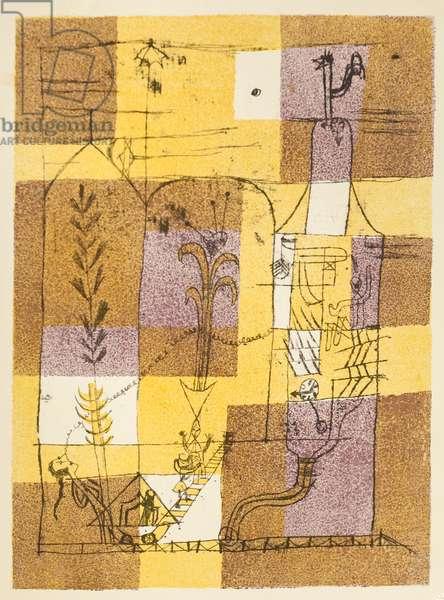 Tale à la Hoffmann (Märchen à la Hoffmann), 1921 (colour litho)