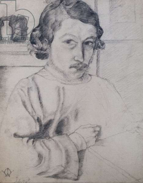 Morris as he saw himself, aged 22, 1856/7 (graphite on paper)
