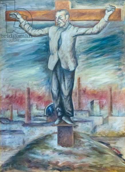 Man crucified, 1943 (oil on canvas)
