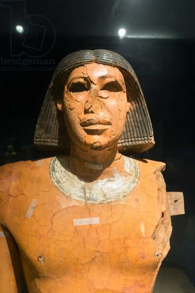 Statue of Ptahhotep, old kingdom (plastered and painted wood)