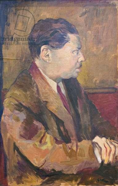 Portrait of Montale, 1938 (oil on panel)