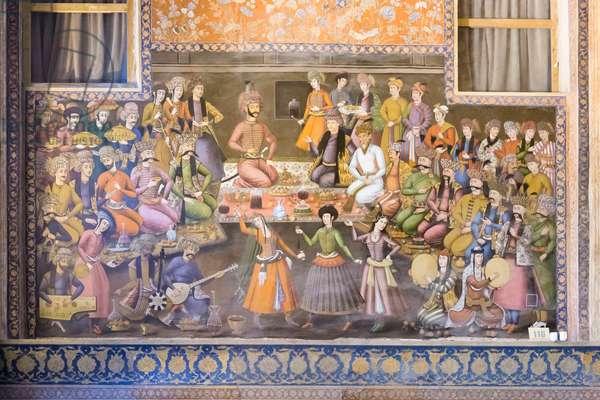 Fresco at Chehel Sotoun palace, Esfahan, Iran