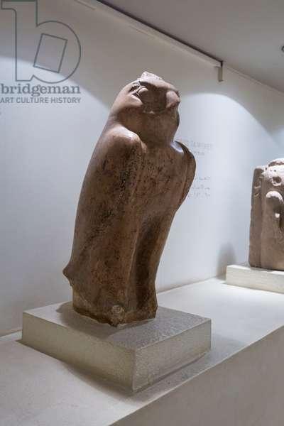 God Horus, 751-656 BC, Luxor statue cache (stone)