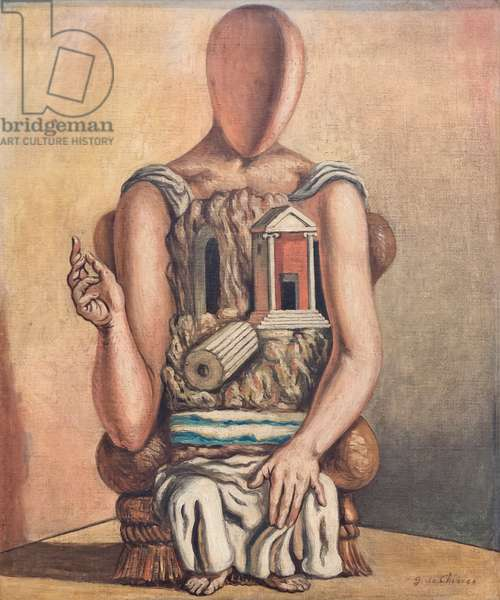 The lonely archaeologist, 1937 circa, (oil on canvas)