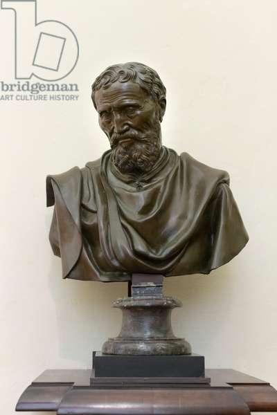 Bust of Michelangelo, 1560 (bronze)