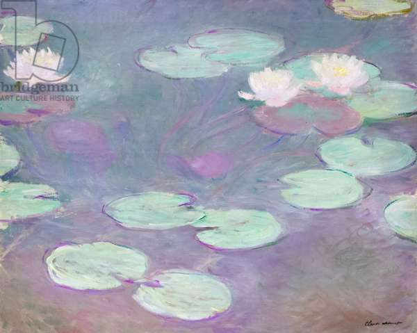 Pink water lilies, Claude Monet, 1897-1899 (oil on canvas)