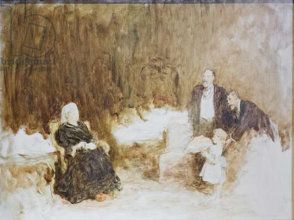 Four generations, queen Victoria, king Edward VII, prince Edward, 1897 (oil on canvas)