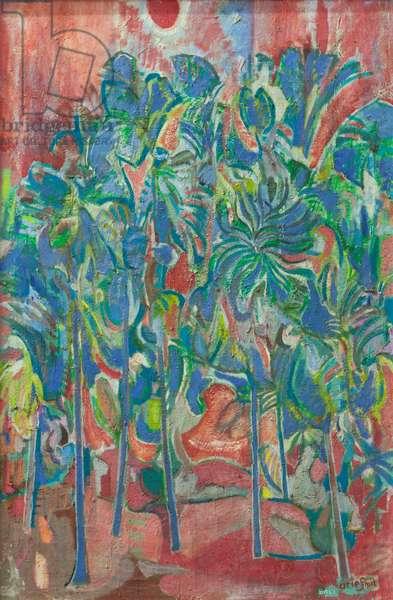 Tropical landscape,1974 (oil on canvas)
