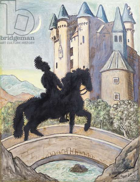 Return to the Castle, 1969 (oil on canvas)