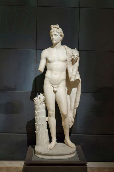Statue of a genius with cornucopia, identified as the genius of emperor Domitian (marble)