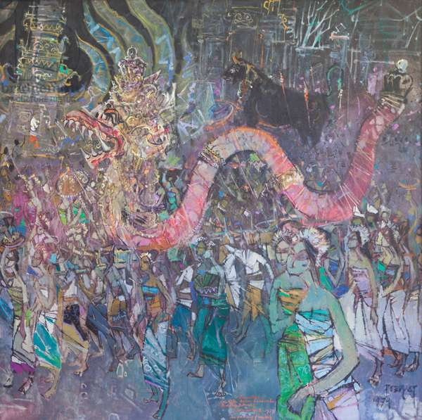 Royal cremation ceremony, 1979 (oil on canvas)