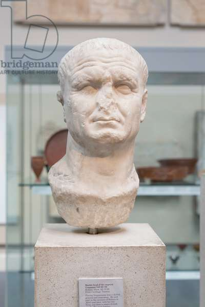 Head of Vespasian, about 70-80 AD
