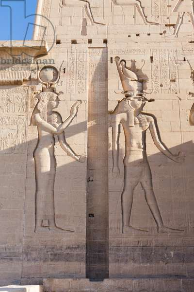 Reliefs at Philae temple, Aswan, Egypt