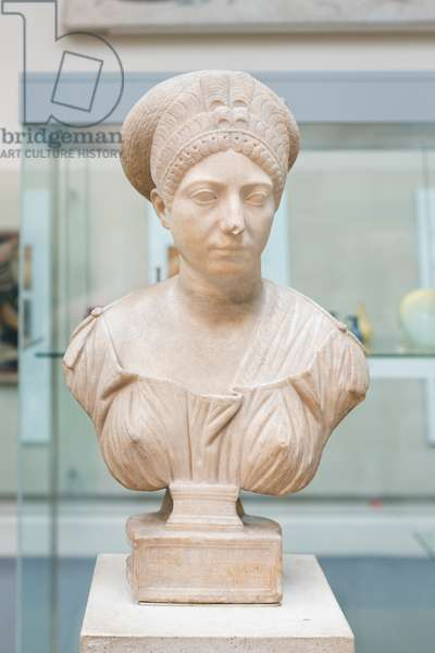 Inscribed portrait of Claudia Olympias, about 100 AD