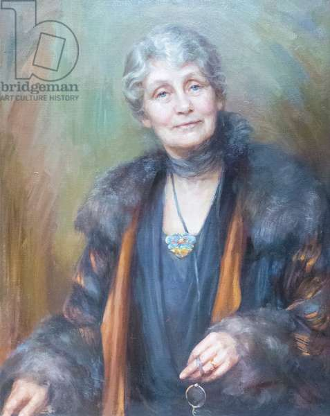 Emmeline Pankhurst, 1927 (oil on canvas)