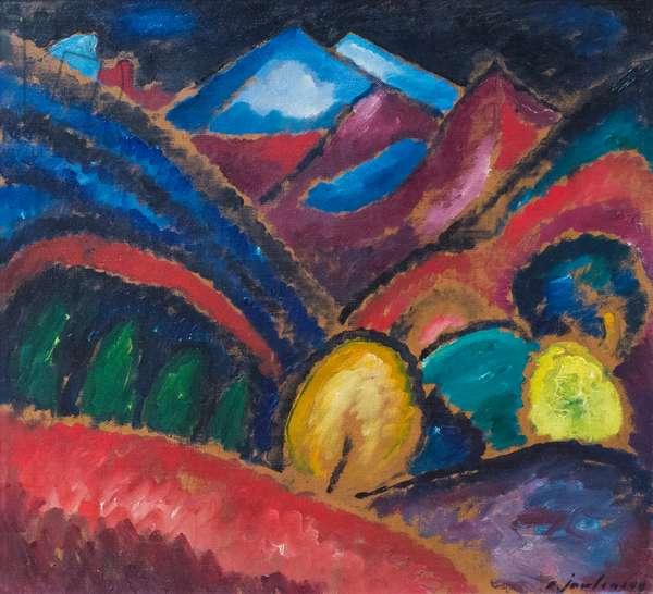 Murnau, 1910 (oil on card)