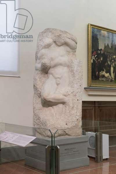 Prisoner, called awakening slave, 1525-1530 (marble)
