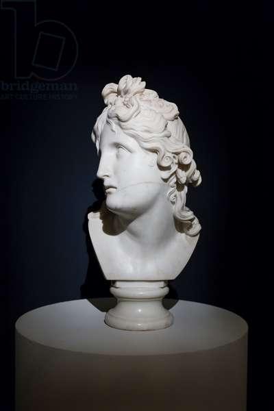 Head of genius of death, 1790 (marble)