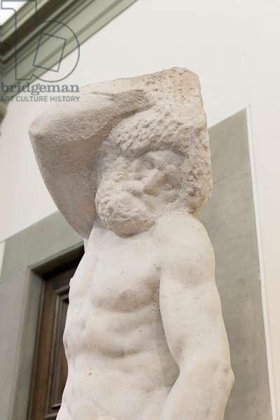 Prisoner, called bearded slave, 1525-1530 (marble)