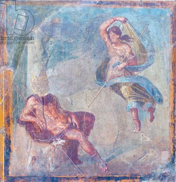 Selene and Endymion, 62-79 AD, from Herculaneum (fresco)