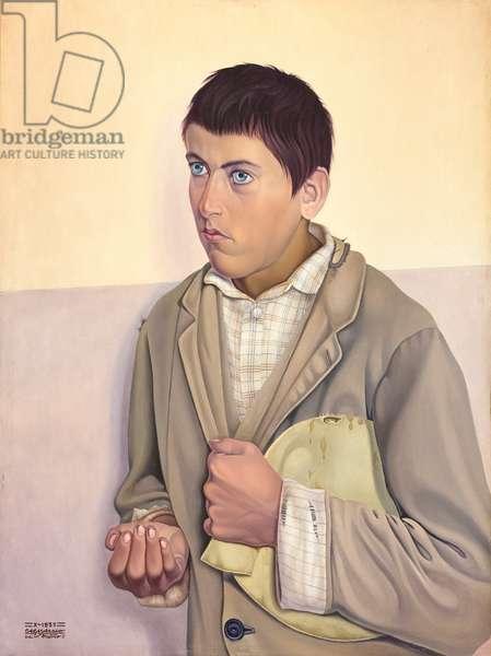 Il randagio, 1932, Cagnaccio di san Pietro (oil on panel)