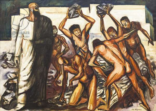 The Martyrdom of Saint Stephen, 1944 (oil on canvas)