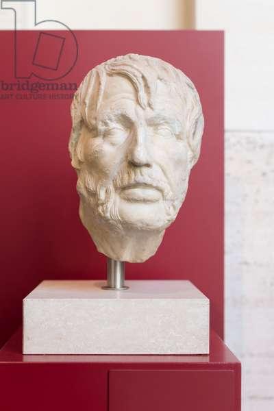 "So called ""pseudo Seneca"" portrait, could represent Seneca, Hesiod or Ennius, 2nd century AD (marble)"